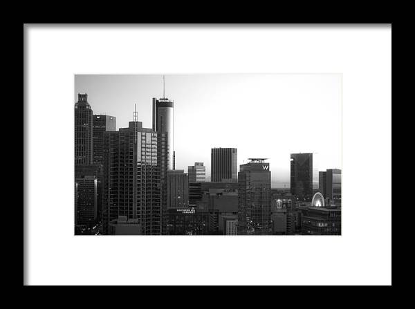 Black And White Framed Print featuring the photograph Monochrome City by Mike Dunn