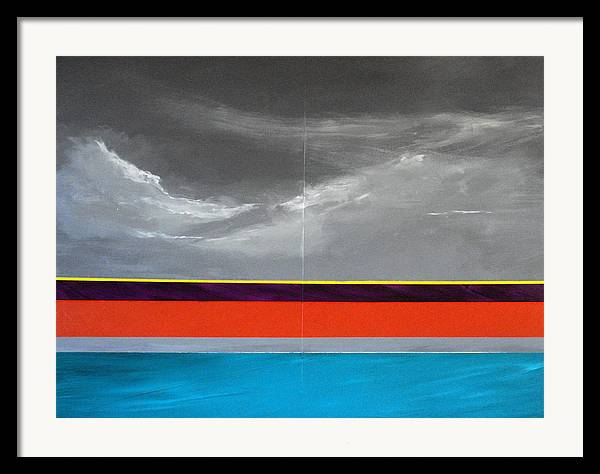 Seascape Impression Framed Print featuring the painting Monsoon Sky by Paul Miller