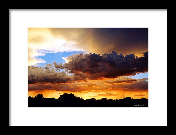 Sunset Framed Print featuring the photograph Monsoon Sunset by David Coyle