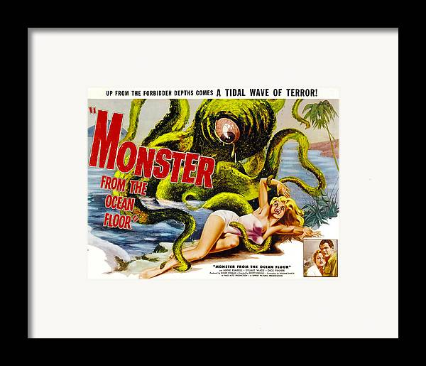 1950s Movies Framed Print featuring the photograph Monster From The Ocean Floor, Anne by Everett