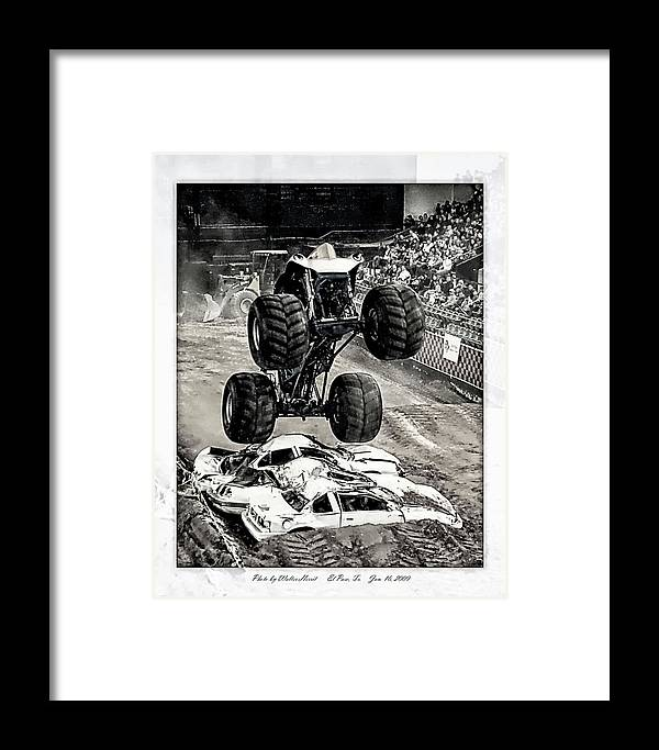 Nasty Boy Framed Print featuring the photograph Monster Truck 1b by Walter Herrit