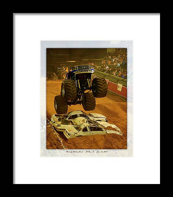 Amp Tour Framed Print featuring the photograph Monster Truck 2a by Walter Herrit