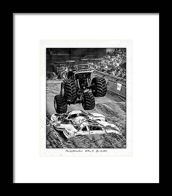 Amp Tour Framed Print featuring the photograph Monster Truck 2b by Walter Herrit