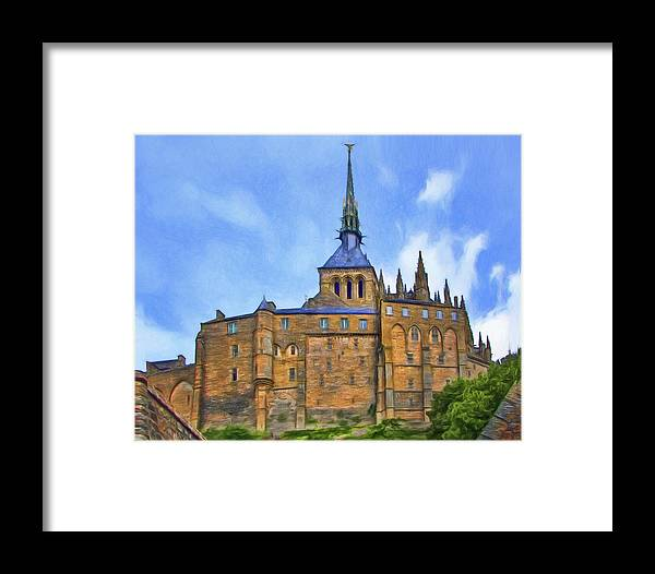 France Framed Print featuring the photograph Mont Saint Michel - 2 - France by Nikolyn McDonald