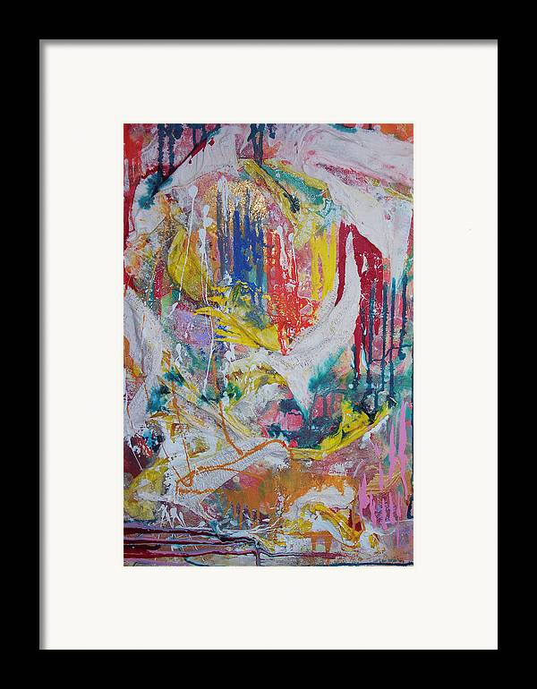 Framed Print featuring the mixed media Montage And Collage And Paint by Shant Beudjekian