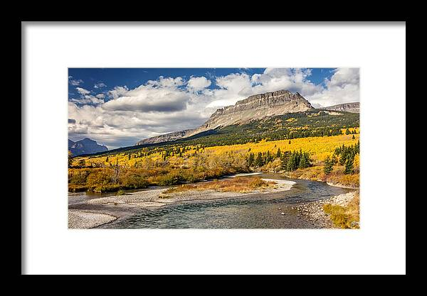 Mountain Framed Print featuring the photograph Montana Landscape In Fall by Pierre Leclerc Photography