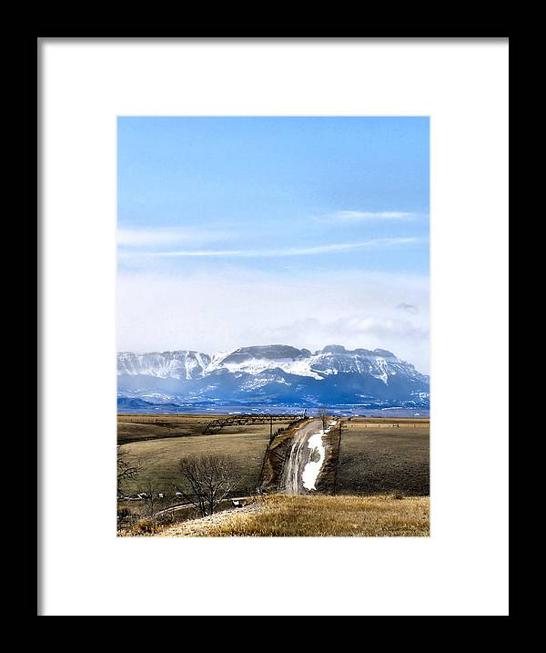 Montana Framed Print featuring the photograph Montana Scenery one by Susan Kinney