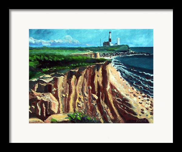 Montauk Framed Print featuring the painting Montauk Camp Hero 04a by Ralph Papa