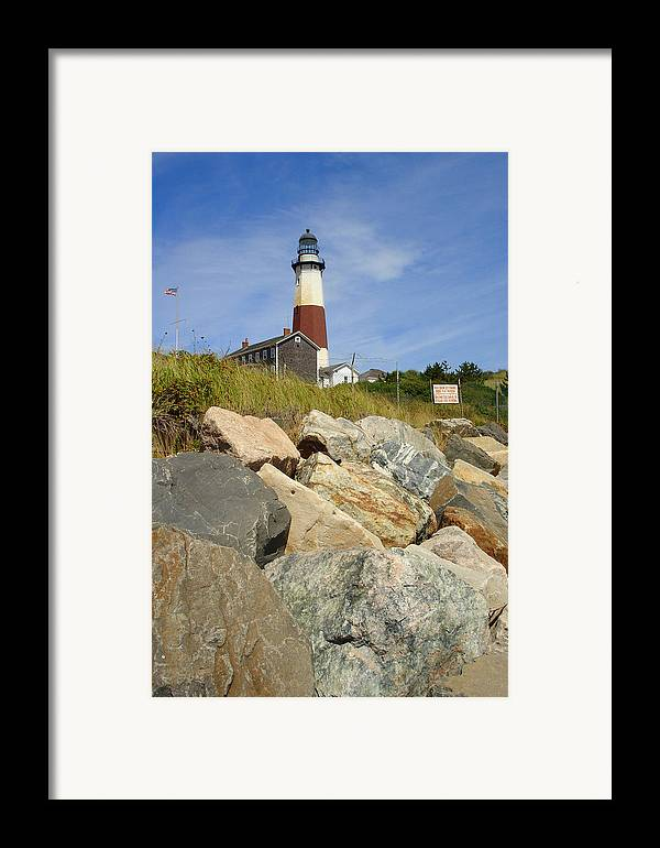 Montauk Framed Print featuring the photograph Montauk Lighthouse 2 by Michael Simeone
