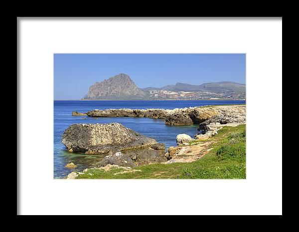 Monte Cofano Framed Print featuring the photograph Monte Cofano - Sicily by Joana Kruse
