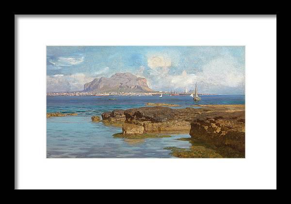 Monte Pellegrino Framed Print featuring the painting Monte Pellegrino by Francesco Lojacono