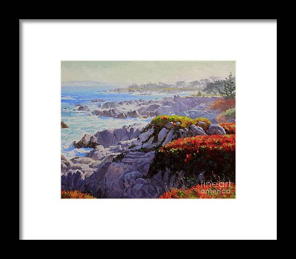 Monteray Bay Framed Print featuring the painting Monteray Bay Morning 2 by Gary Kim