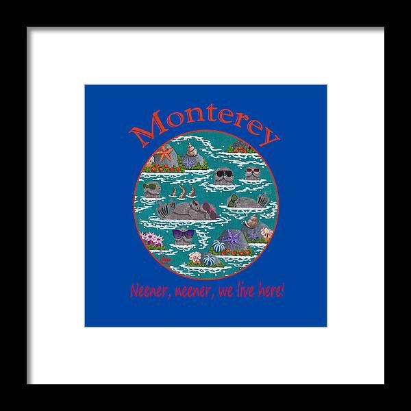 Merry Kohn Framed Print featuring the painting Monterey Neener by Merry Kohn Buvia