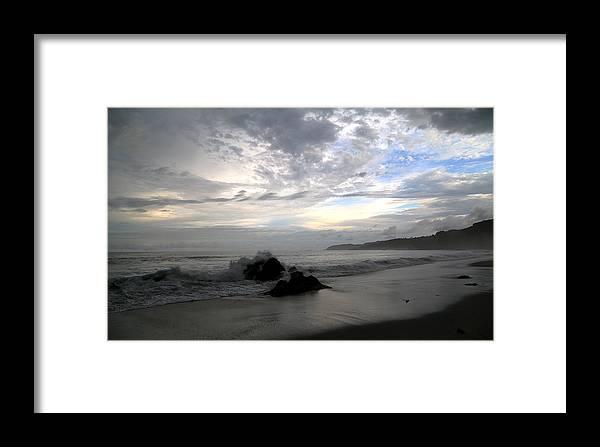 Costa Rica Framed Print featuring the photograph Montezuma Beach by Marc Levine