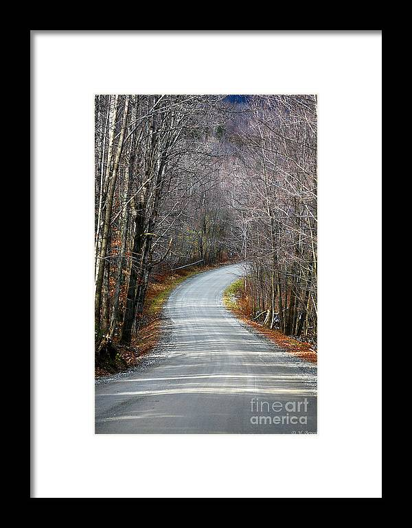 Road Framed Print featuring the photograph Montgomery Mountain Road by Deborah Benoit