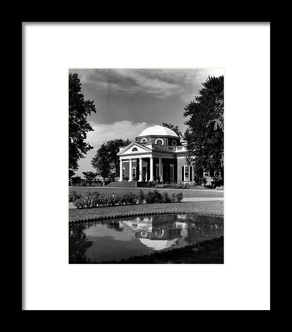 1960s Framed Print featuring the photograph Monticello, Home Of Thomas Jefferson by Everett