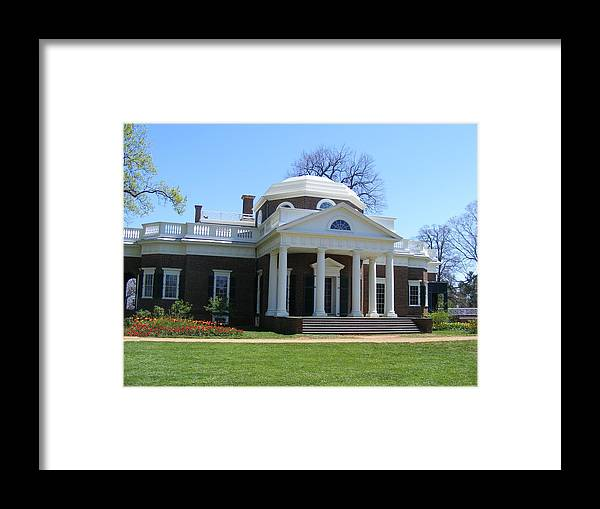 Thomas Jefferson Framed Print featuring the photograph Monticello by James and Vickie Rankin