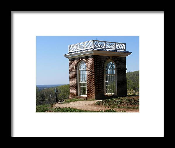 Monticello Framed Print featuring the photograph Monticello's Overlook by James and Vickie Rankin