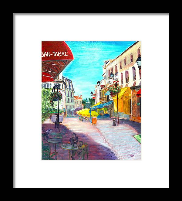 Cityscape Framed Print featuring the painting Montmorency Center by Aymeric NOA