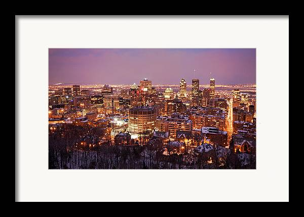 Montreal Framed Print featuring the photograph Montreal City Lights by Pierre Leclerc Photography