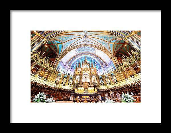 Montreal Framed Print featuring the photograph Montreal Notre-dame Basilica by Songquan Deng