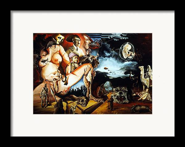 War Framed Print featuring the painting Monument To The Unborn War Hero by Otto Rapp