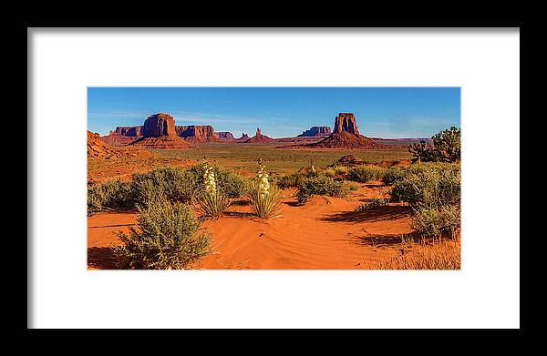 Monument Valley Framed Print featuring the photograph Monument Valley by Norman Hall