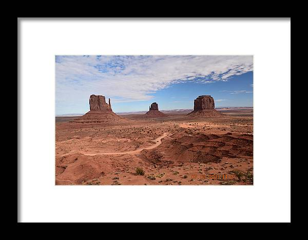 Framed Print featuring the photograph Monument Valley-one by Curtis Willis