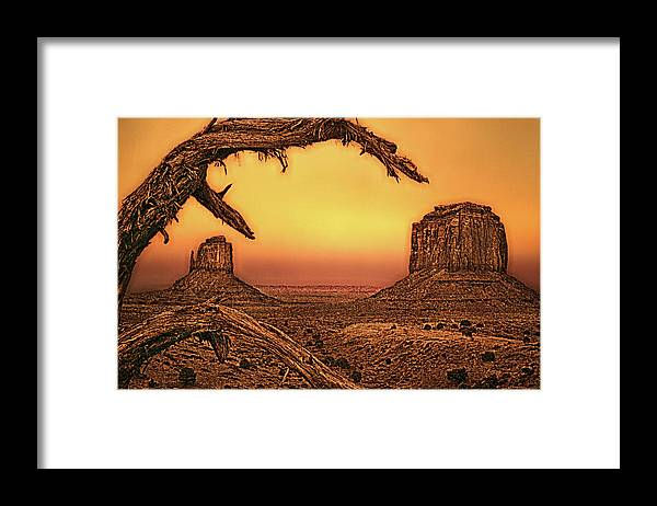 Nature Framed Print featuring the photograph Monuments by Jim Painter