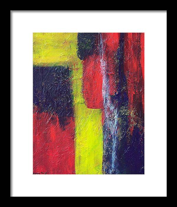 Abstract Framed Print featuring the painting Moods by Marcia Paige