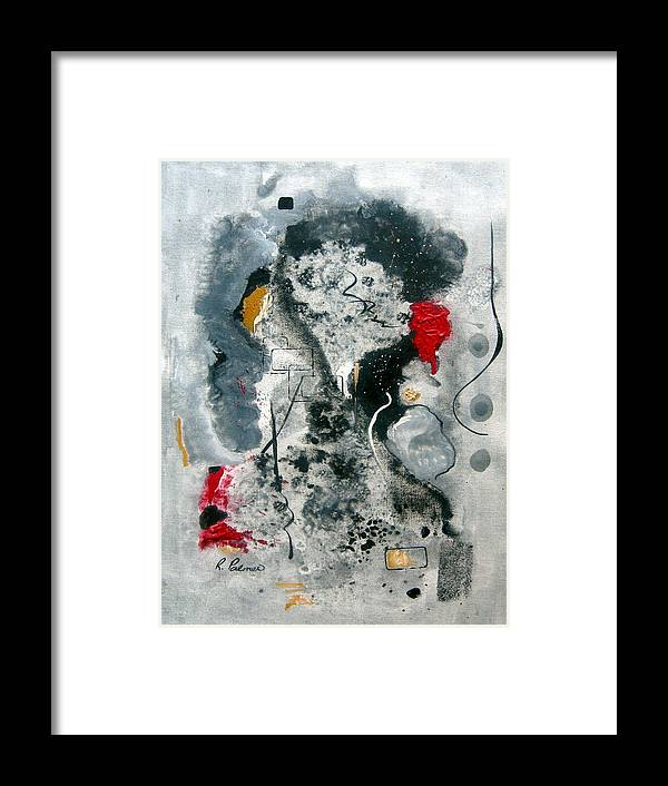 Abstract Framed Print featuring the painting Moods by Ruth Palmer