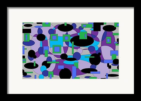 Digital Abstract Framed Print featuring the digital art Moody Purple by Jordana Sands