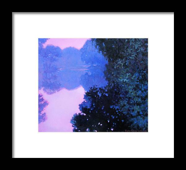 Landscape Painting Framed Print featuring the painting Moody River by Kevin Lawrence Leveque