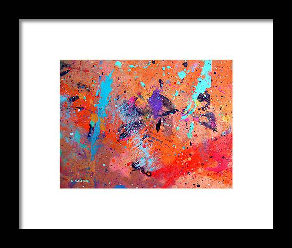 Abstract Framed Print featuring the painting Moon And Sixpence by Charles Yates