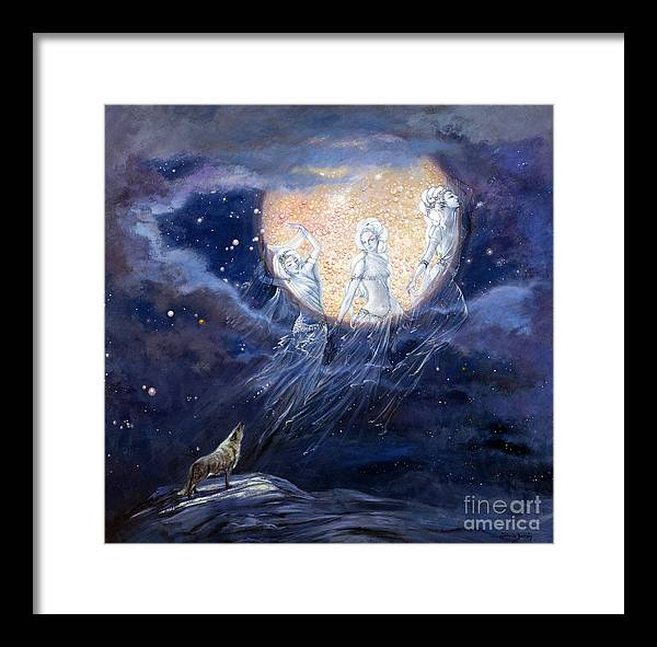 Full Moon Framed Print featuring the painting Moon Dance by Silvia Duran