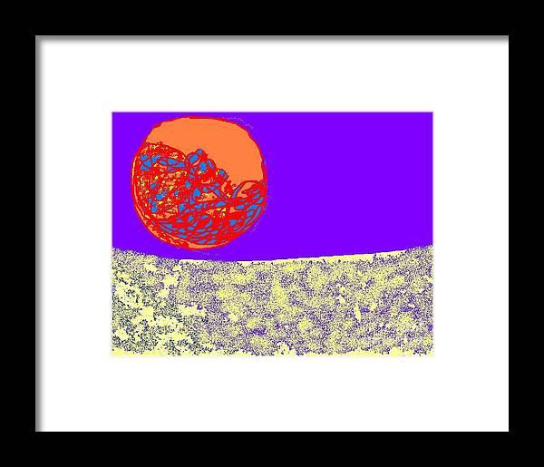 Moon Framed Print featuring the digital art Moon Glow by Beebe Barksdale-Bruner