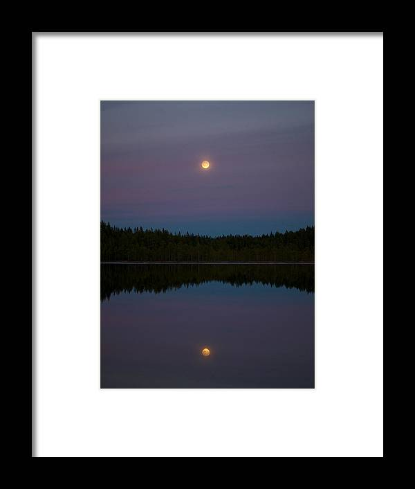 Lehtokukka Framed Print featuring the photograph Moon Over Kirkas-soljanen 2 by Jouko Lehto