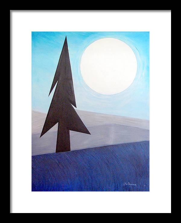 Impressionist Painting Framed Print featuring the painting Moon Rings by J R Seymour