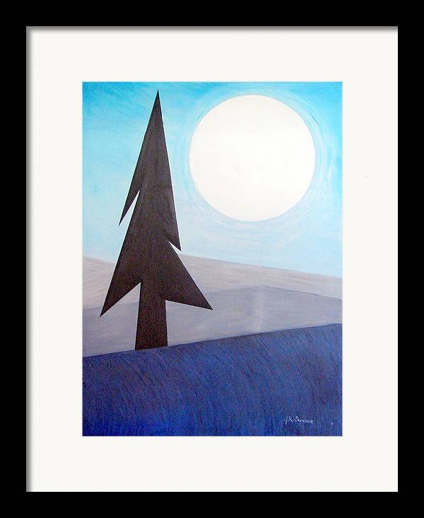 Phases Of The Moon Framed Print featuring the painting Moon Rings by J R Seymour