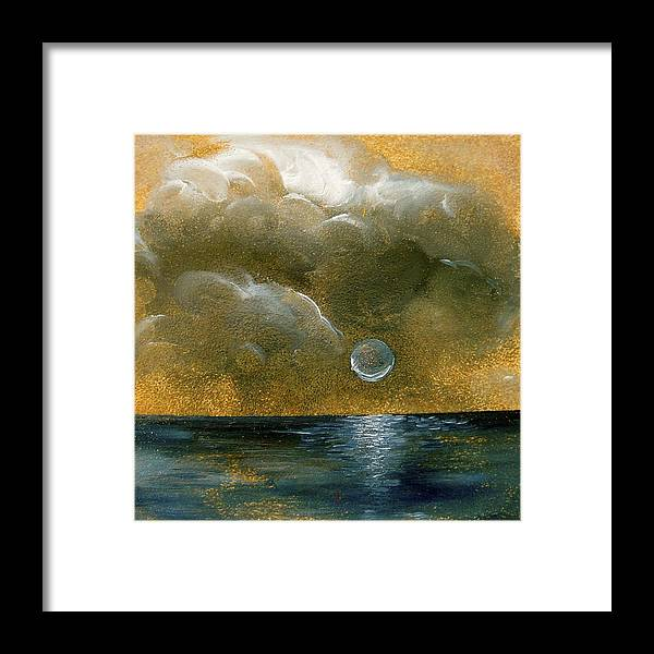 Moon Framed Print featuring the painting Moon Scape by Karen Doyle