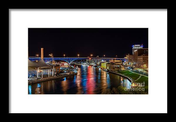 City View Cityscape Framed Print featuring the photograph Moon Setting Beyond The Flats by Frank Cramer