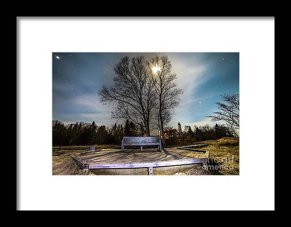Lighthouse Framed Print featuring the photograph Moon Shadow Iroquois Point -1462 by Norris Seward