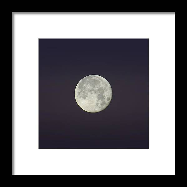 Moon Framed Print featuring the photograph Moon Shot 7 by Robert Knight