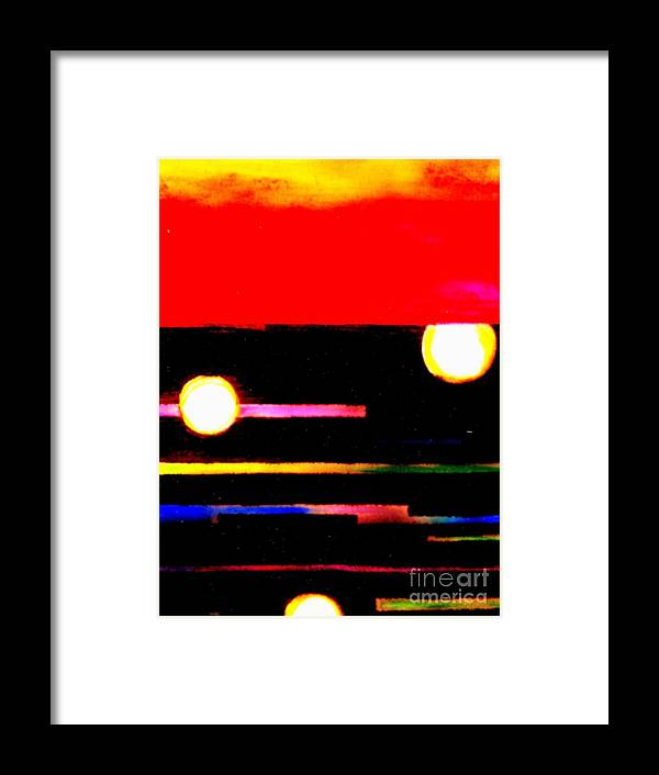 Moon Framed Print featuring the painting Moondance by Wbk