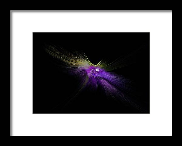 Digitalimage Framed Print featuring the digital art Moonfly by Tony Svensson