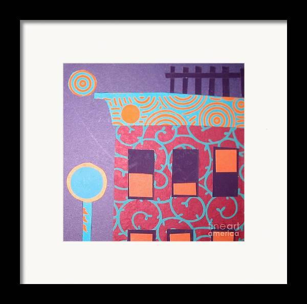 Cityscape Framed Print featuring the mixed media Moonlight Funk by Debra Bretton Robinson