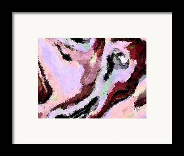 Abstract Framed Print featuring the digital art Moonlight by LeeAnn Alexander