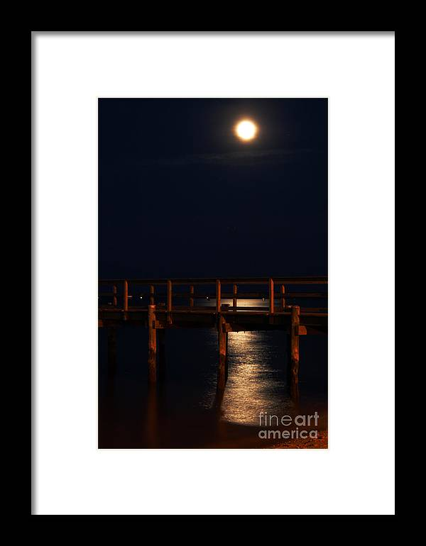 Clay Framed Print featuring the photograph Moonlight On Water by Clayton Bruster