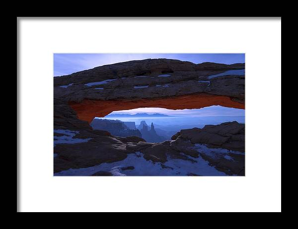 Moonlit Mesa Framed Print featuring the photograph Moonlit Mesa by Chad Dutson