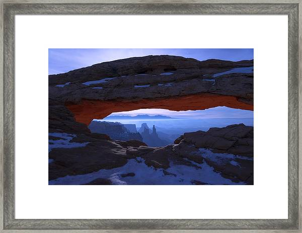 Moonlit Mesa Framed Print By Chad Dutson